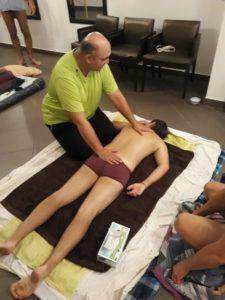 Ouverture massage du dos